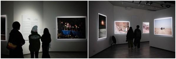 在富士X-SPACE,观众欣赏王轶庶《方舟》个展作品