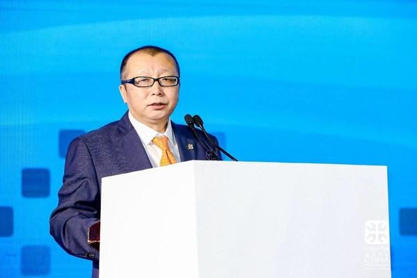 全联房地产商会副秘书长兼房讯网董事长刘凯致辞