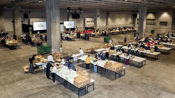 金沙中国与社区团体为洁世制作40,000个卫生用品包