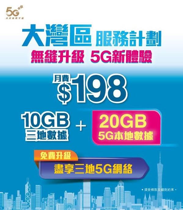 中國移動香港推出特選優惠  免費升級 5G 網絡