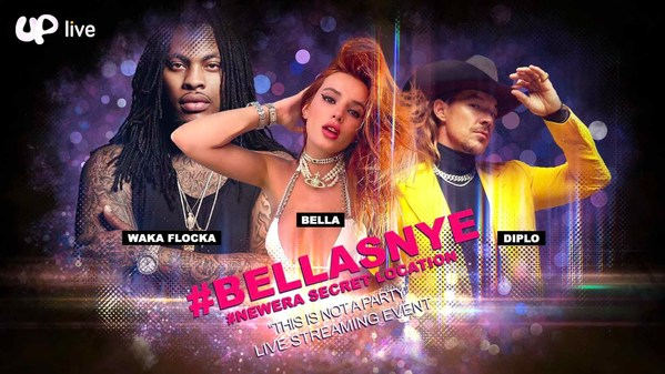 Uplive to Exclusively Livestream Bella's New Year's Eve 2021 Event Featuring Bella Thorne, Diplo, and Many More World-Renowned Celebrities and Influencers
