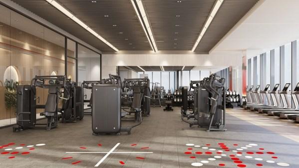 健身房器械区配置品牌器械,打造高质量的运动体验