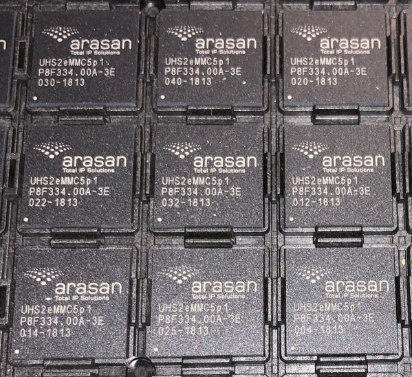 Arasan TSMC 12nm eMMC PHY IP和SD UHS-II卡IP测试芯片