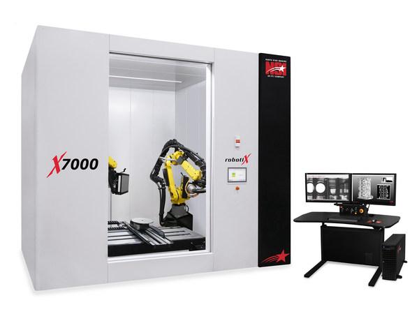 通过操纵机器人对大型零件进行X射线检查