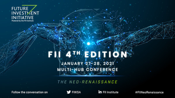 The FII Institute will host the 4th edition of the Future Investment Initiative (FII) on January 27-28 at the King Abdul Aziz International Conference Center (KAICC) in Riyadh, with speakers and audiences joining physically and virtually from FII satellites in New York, Paris, Beijing, and Mumbai.