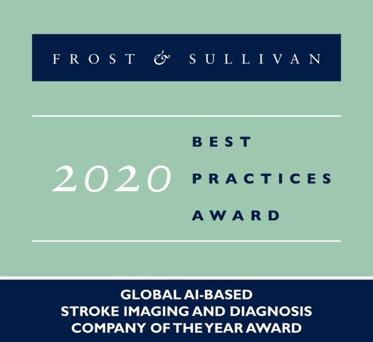 RapidAI Receives 2020 Global Company of the Year Award From Frost & Sullivan for its AI-Powered Stroke Imaging and Diagnosis Technologies