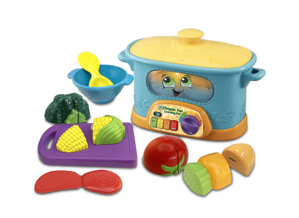 偉易達新推出的環保玩具產品包括全新的Choppin' Fun Learning Pot™及其以提煉自植物的塑膠製成的蔬菜配件。