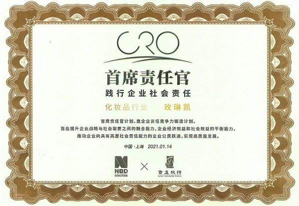CRO首席责任官奖牌