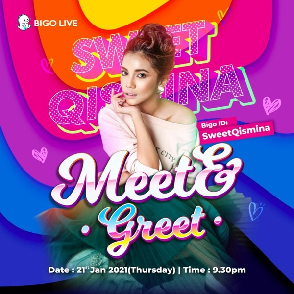 Pengguna BIGO berpeluang Luangkan Masa dan Berbual bersama Sweet Qismina