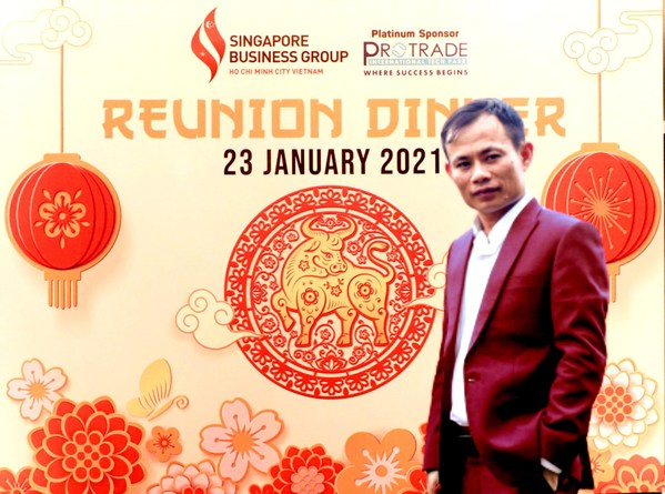 Picture: Harry Pham, Chairman of OCB Life Group, attends the Singapore Business Group Reunion Dinner event in Ho Chi Minh City on Saturday January 23, 2021.