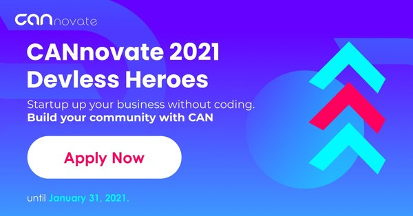 Call for applications for CANnovate 2021 - Devless Heroes, the global no-code startup acceleration program