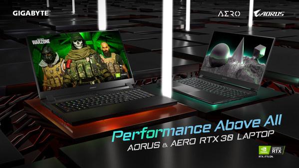 先行予約販売が好調、GIGABYTE RTX 30シリーズノートパソコン本日より正式発売