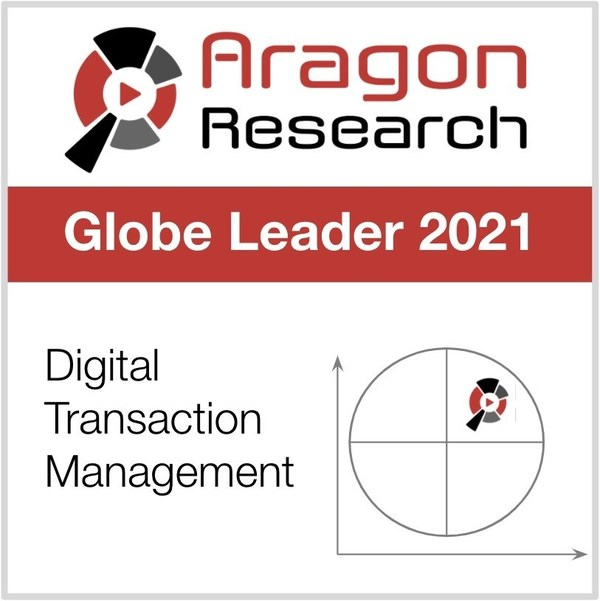 Nintex Named a Leader in The Aragon Research Globe™ for Digital Transaction Management, 2021