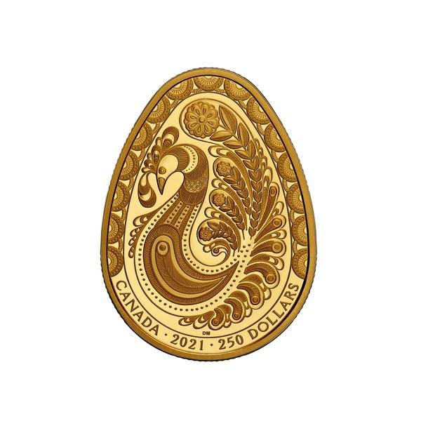 加拿大皇家铸币局厂发布全新纯金Pysanka(复活节彩蛋)纪念币,精心设计雕刻,庆祝新春永至