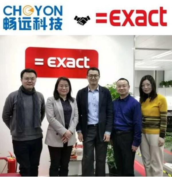 畅远科技董事长彭彦女士率团队访问Exact