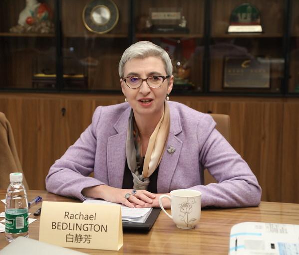 加拿大驻华大使馆公使白静芳女士发表讲话