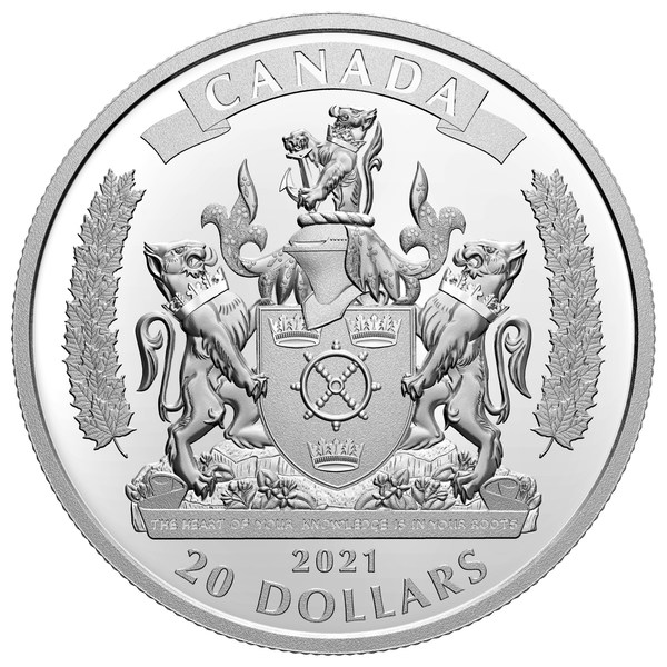 The Royal Canadian Mint's silver collector coin honouring the Black Loyalists
