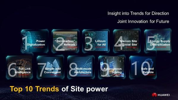 前沿技术与产业风向标 -- 华为发布站点能源未来十大趋势
