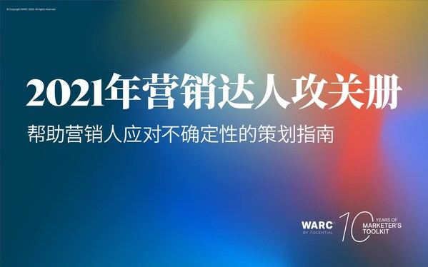 WARC发现:71%的营销人在制定2021年营销战略时最重要的考虑因素是后疫情时代消费者行为的变化