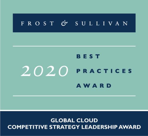 騰訊雲榮獲Frost & Sullivan「2020最佳實踐獎 - 全球雲端競爭策略和領導力」