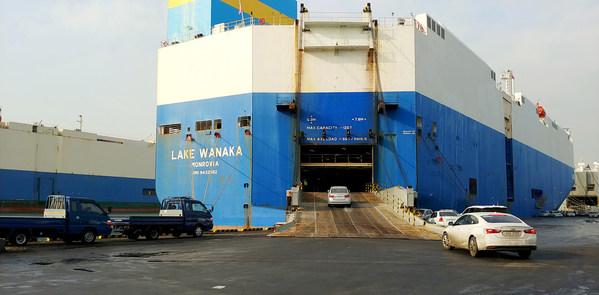 CEVA Logistics整船滚装项目交付千辆汽车