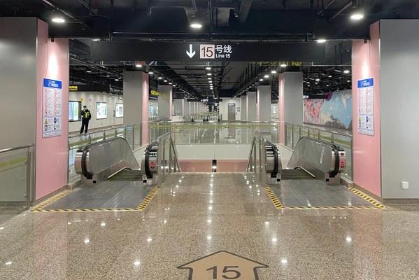 上海地铁15号线试运营 日立电梯为线路提供201台自动扶梯