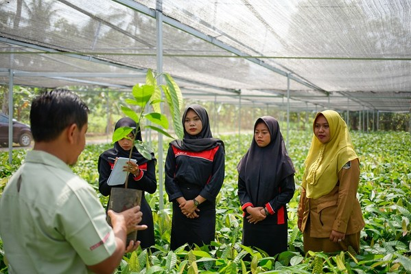 Para petani kakao, 20% di antaranya adalah kaum wanita, akan mengikuti pelatihan tentang literasi keuangan dan kewirausahaan