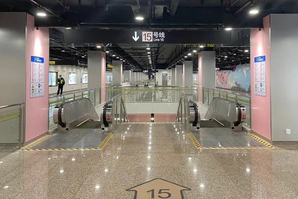 Hitachi Elevator Provides 201 Escalators to Shanghai's Metro Line 15