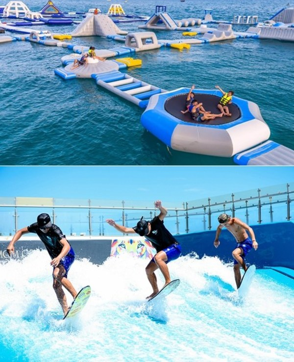 三亚美高梅度假酒店海上城堡及陆地冲浪
