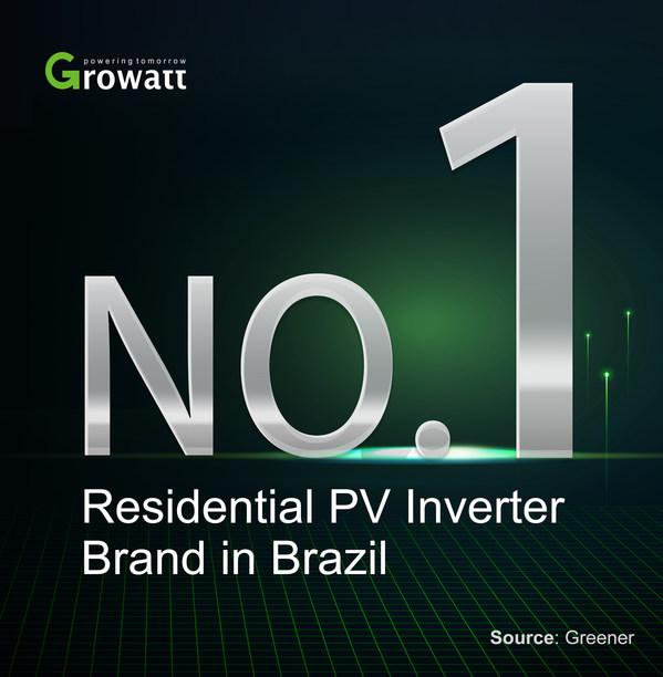 Growattがブラジルで最大の住宅用PVインバーターサプライヤーに