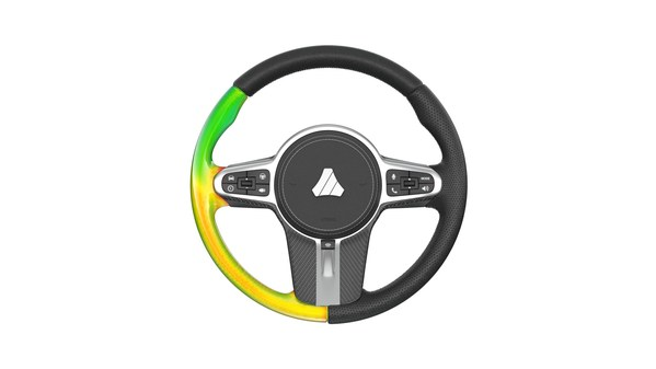Simulation-driven design of a steering wheel with polyurethane foam manufacturing analysis