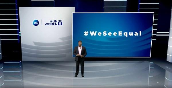 第3回年次#WeSeeEqual Summitで講演する P&Gアジア太平洋・中東・アフリカ担当プレジデント、Magesvaran Suranjan氏
