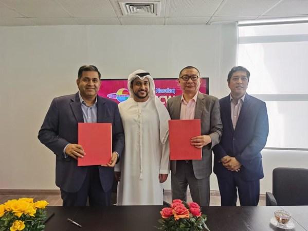 彩色星球科技与迪拜合作伙伴