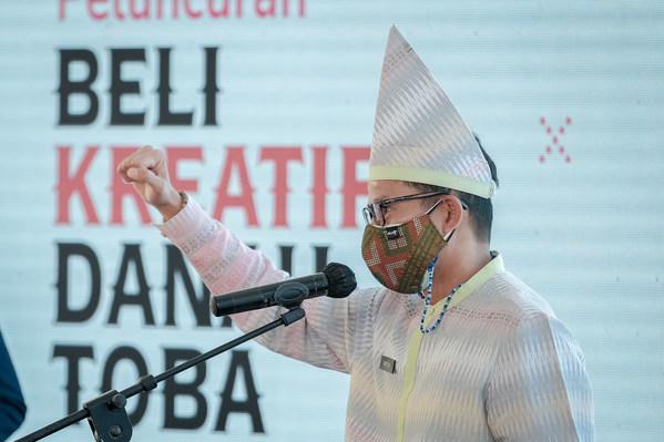 인도네시아 관광부 장관, #BeliKreatifDanauToba 캠페인 지지