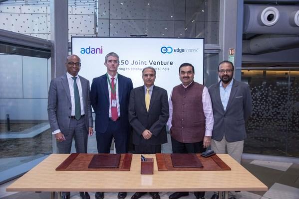 AdaniConneX, một Liên doanh Trung tâm Dữ liệu mới được thành lập giữa Adani Enterprises và EdgeConneX, để trao quyền cho Ấn Độ Kỹ thuật số