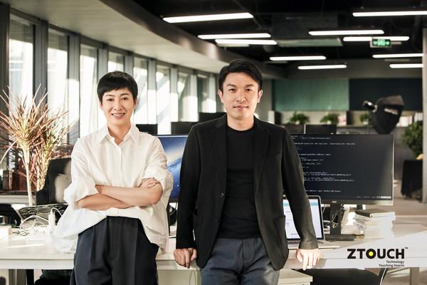 ZTouch两位创始人暨中量质子COO董艳红(左)和CEO彭泽环(右)