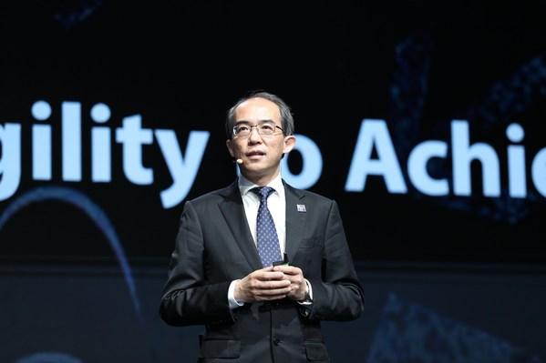Xu Ziyang ZTE 사장, MWC상하이 2021 개막식에서 기조연설 진행