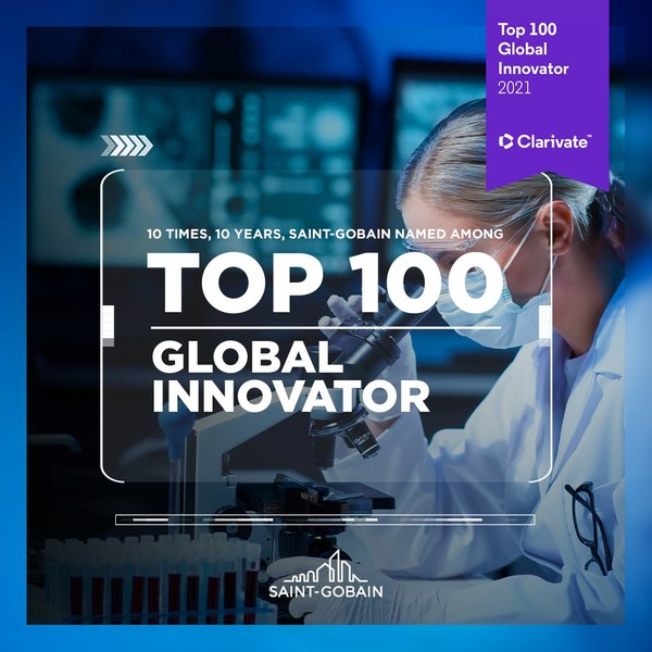 圣戈班连续十年荣膺全球百强创新企业