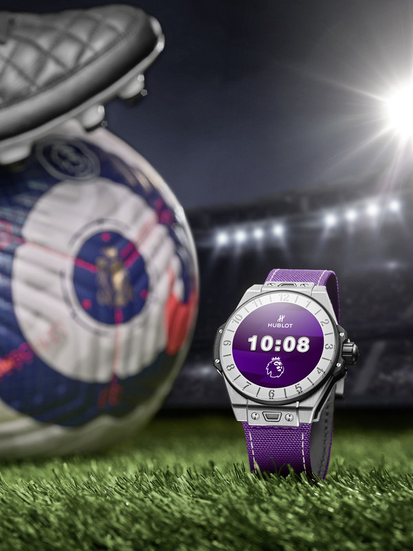 The Swiss watch manufacturer Hublot, Official Timekeeper of the Premier League, announces a limited-edition version of the Big Bang e connected watch