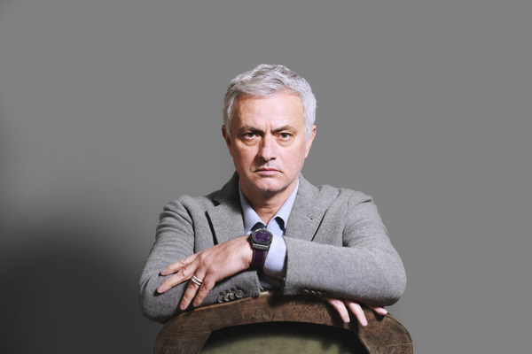 Jose Mourinho wearing the Hublot Big Bang e Premier League