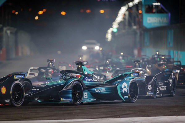 Diriyah E-Prix underway as the first all-electric Formula E night race lights up the skies of Saudi Arabia