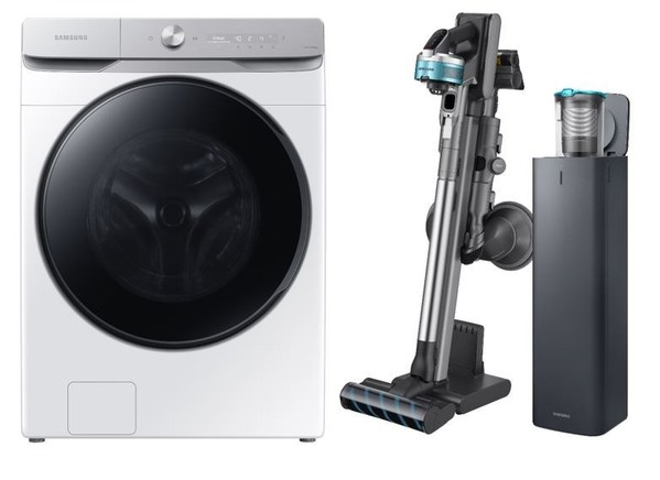 INEOS Styrolution's Zylar®  261 used Samsung's new range of washing machines and vacuum cleaners (image courtesy of Samsung Electronics, 2021)