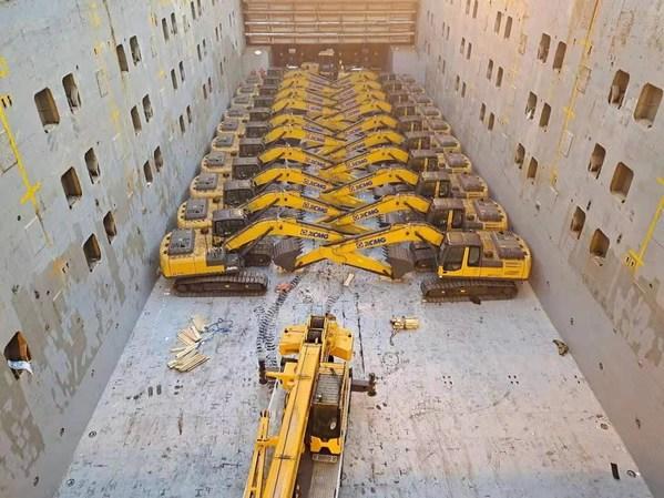 XCMG vận chuyển 400 thiết bị cao cấp nhất tới các quốc gia tham gia sáng kiến Vành đai và Con đường