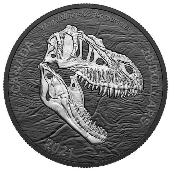カナダ造幣局最新コレクターコインの呼び物はほえる「死に神」のデビュー