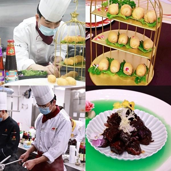 李锦记希望厨师何明宏、袁兴荣专心比赛,烹制美味