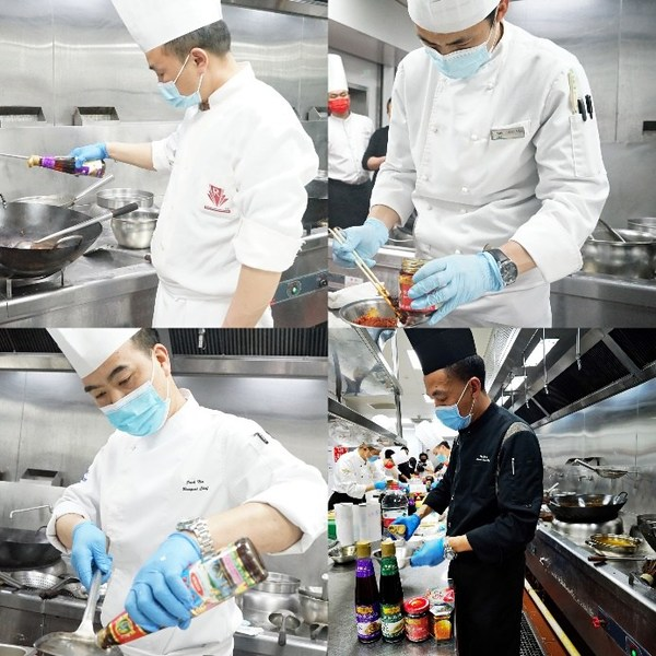 各位餐饮行业大厨使用李锦记酱料为菜式锦上添花