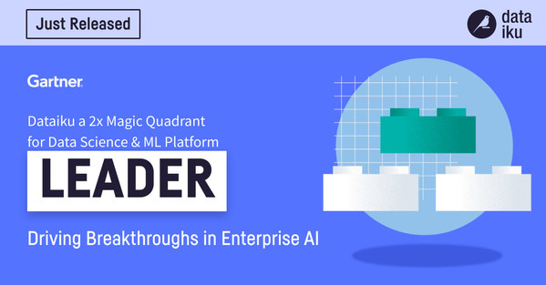 Dataiku Again Named a Leader in the Gartner 2021 Magic Quadrant for Data Science and Machine-Learning Platforms