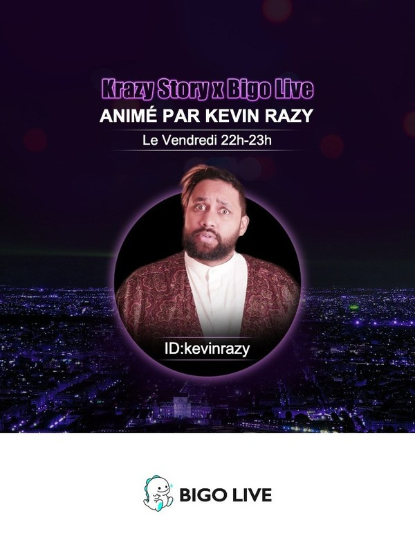 Famous French comedian Kevin Razy held new socially interactive talk show celebrating Valentine's day on Bigo Live
