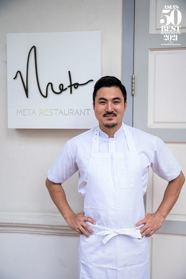 Opened in 2016 by South Korean-born chef Sun Kim, Meta in Singapore is the recipient of the 2021 American Express One To Watch Award.