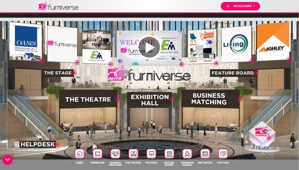 MIFF Furniverse在線展會3月開展 為亞洲家具購買季掀開序幕